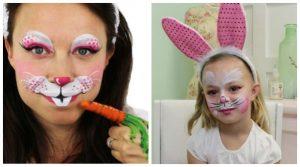 2+2 Αποκριάτικα tutorials για face painting κουνελάκι!