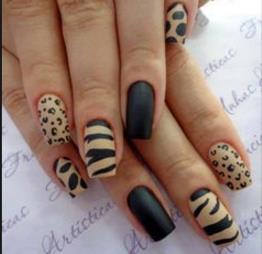 leopar nail art