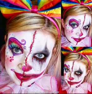 women makeup clown