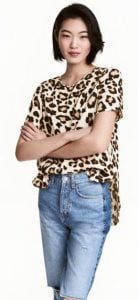 animal print kontomaniko top h&m
