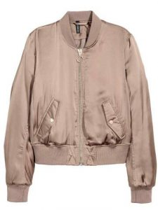 bomber jacket mpez me lastixo stin mesi