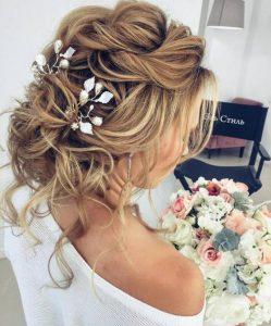 glamorous bridal hairstyle