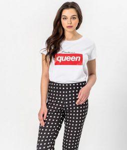 leuki mplouza me stampa queen toi&moi