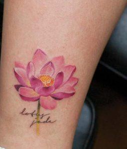 lotos louloudi roz xroma tattoo