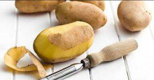 patates katharismenes se pagko me piller