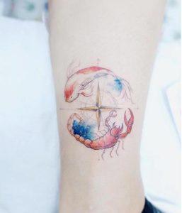 tattoo piksida me simvola zodion kai diafora xromata