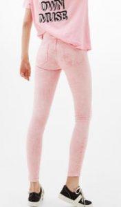 skinny roz panteloni