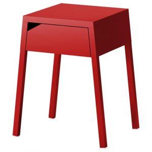 kokkino komodino IKEA me idiaitero sxima