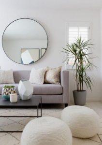 leuko minimalistiko saloni