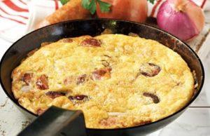 omeleta me patates kai loukanika ediva.gr