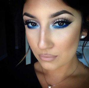 blue smokeye eyes