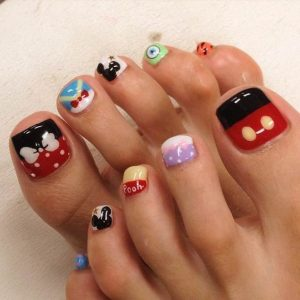 disney mania pedicure