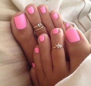 klasiko roz pedicure