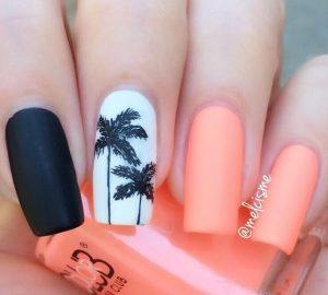 matte korali-sxedio squoval manicure