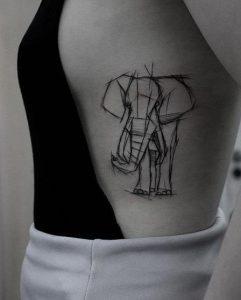 elefantas tatouaz se grammiko sxedio