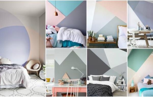 14 Ιδέες για να βάψεις τον τοίχο σου με γεωμετρικά σχήματα!