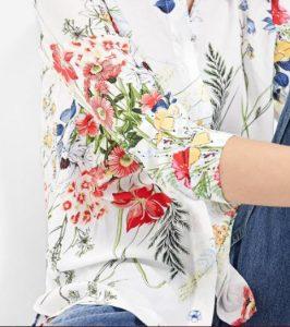 floral makrimaniko ginaikeio poukamiso