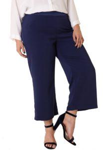 zip culotte plus size