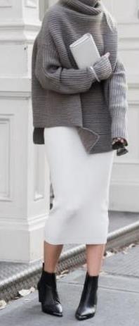 5 Τρόποι για να φορέσεις το πουλόβερ σου με φούστα!  bab89d63dba