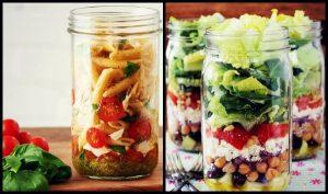 5 Συνταγές για σαλάτες σε βαζάκι για το γραφείο!