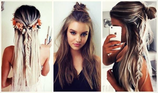 25 Εύκολα hairstyles με τα μισά μαλλιά επάνω!