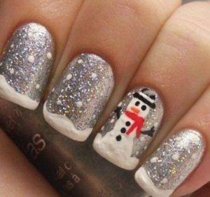 glitter asimi snowman