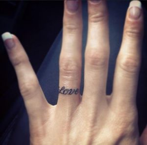 love tattoo ring