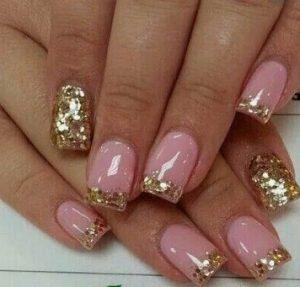 roz nuxia xryso glitter galliko manikiour
