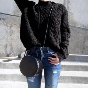 fardi mavro mallino, jeans, stroggili tsanta