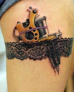 tattoo sxedio me mixani gia tatouaz podi