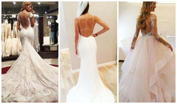 21 Όμορφα εξώπλατα νυφικά για την ημέρα του γάμου σου!