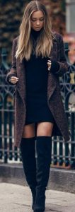 palto, over the knee boots