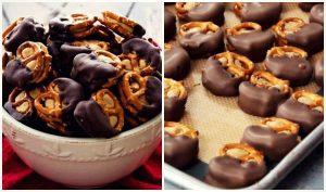 Η πιο νόστιμη συνταγή για πρέτσελ με φυστικοβούτυρο & σοκολάτα!