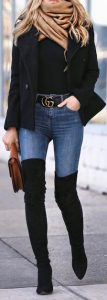 street look, jeans, boots