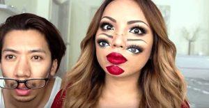 Πως να κάνεις αποκριάτικο μακιγιάζ διπλό πρόσωπο!