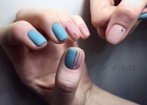 matte galazio me roz manicure
