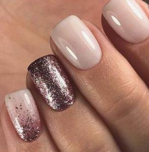 mpronze-kokkino glitter, aplo roz verniki