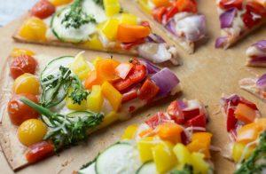Χορτοφαγική pizza ουράνιο τόξο!