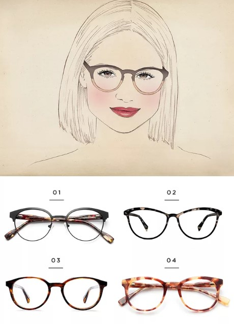 Στο τετράγωνο πρόσωπο ιδανικά ταιριάζουν μεγάλα στρογγυλεμένα γυαλιά που θα  δώσουν την αίσθηση του μήκους στο πρόσωπο. Επίλεξε αυτά που έχουν διχρωμία b69962aad75