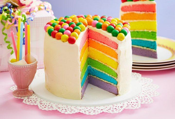 Πως να φτιάξεις την πιο εντυπωσιακή τούρτα ουράνιο τόξο!
