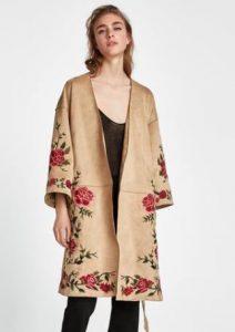 anoiksiatiko floral ginaikeio palto