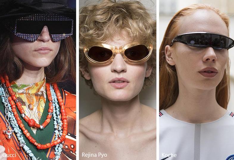Από τις πιο περίεργες προτάσεις για την άνοιξη- καλοκαίρι 2018 είναι τα γυαλιά  ηλίου που είναι σαν να ήρθαν από το μέλλον. Πολύ cbe55ef3b46