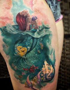 ariel mikri gorgona egchrwmo tattoo