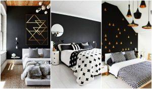 44 Ιδέες για όμορφες μαύρες κρεβατοκάμαρες!