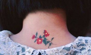 flower tattoo neck ediva.gr