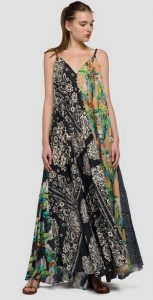 mixed pattern maxi forema