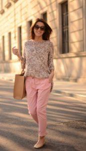 roz apalo panteloni kafe tsanta