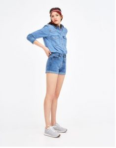 shorts jean mom fit