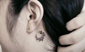 small floral tattoo neck ediva.gr
