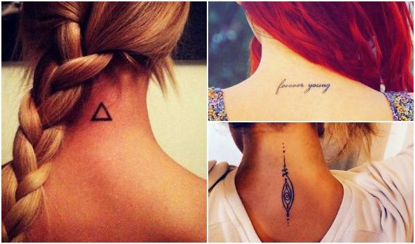 58 Μικρά τατουάζ για σβέρκο και λαιμό για γυναίκες!
